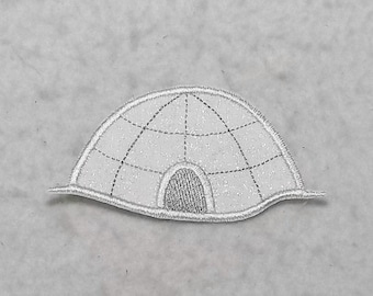 Igloo - MADE to ORDER - Choose SIZE - Tutu & Shirt Supplies - Iron on Applique Patch 7353