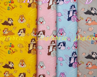 W501 - 70cmx50cm Vinyl Waterproof Fabric - chipmunk - Chip and Dale