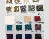 Bigger Swatch Pieces for Sequined Fabric, with over 20 Colors, Large Swatch Pieces Available(RenzRags)