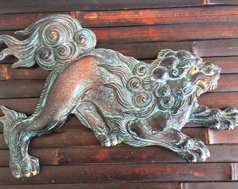 Vintage Iron Fu Dog Lion