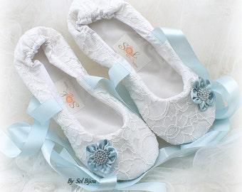 Girl Flats,White,Blue,Light Blue,Ballet Flats,Lace Flats,Confirmation,Flower Girl,First Communion,Bat Mitzvah,Ballerina Slippers,Prom,Flats