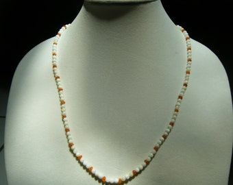 Shell Pearl and Carnelian Necklace
