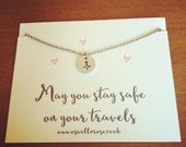 May you stay safe on your travels  necklace