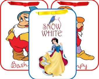 Disney cartoon 10 Snow White table tent cards party decoration favor