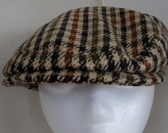 Brooks Brothers Jaunty Wool Tweed Cap  1990s