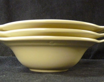 Vernon Kilns Modern California Tab Handled Chowder Bowls Three Bowls
