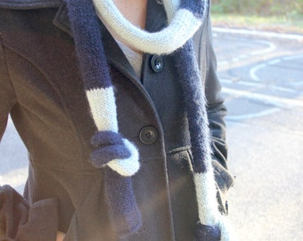 Merino wool striped scarf