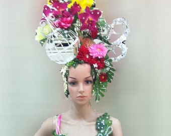 Vegas Green Leaf World Earth Flower Elegant Headdress