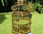 Vintage Antique Brass Birdcage Victorian Birdcage Bird Cage Light Huge Real Birdcage Home Decor