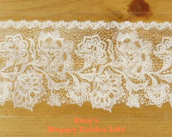 Translucent Wide Sticker Tape - White Lace Vol. 2 - Ver. 3 - 48mm Wide - 16 Yards