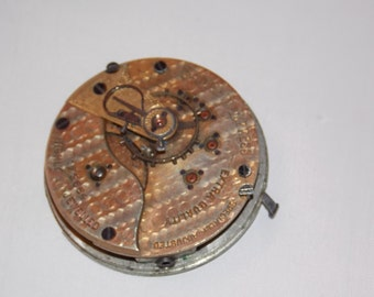 Antique 45mm Etched Pocket Watch Movement
