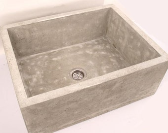 cement bathroom sinks concrete sink etsy 12257