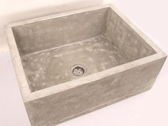 Medium concrete sink ub2 overtop washbasin unusual washstand for Concrete bathroom sinks for sale
