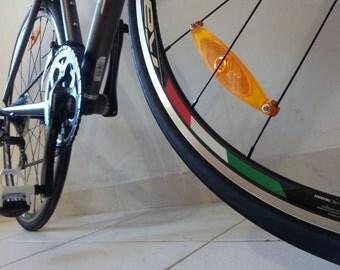 8x Flag Sticker Stripes Italy Italian Tricolore Stripe Rim Stickers Bicycle for 700c Wheels Bike Cycling