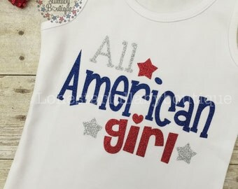 All American Girl 4th of July Shirt - girl, baby bodysuit, toddler