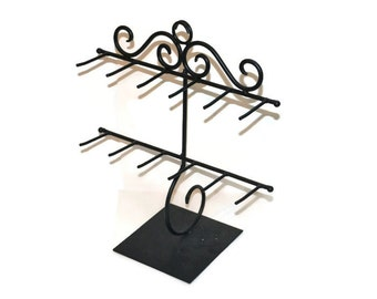 Large Black Wrought Iron Type Jewelry Display Stands Discount Jewelry Displays Necklace Display Jewelry Storage