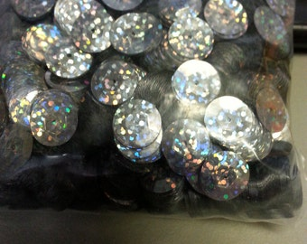 10 MM Cup HIC Silver Spotlite Glitter Sequins 126 Grams Each Over 6000 Sequins