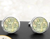 Cufflinks Annapolis Kent Island Maryland Handmade Cuff Links City State Maps MD Groomsmen Wedding Party Fathers Dads Men