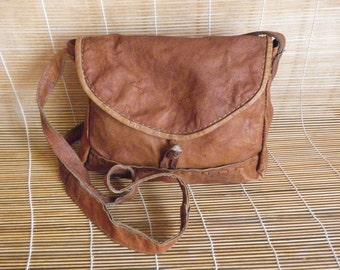 Vintage Lady's Soft Leather Shoulder Strap Bag