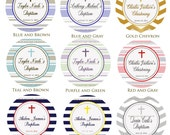 PRINTABLE  Baptism, Christening, Communion, Religious Favor Tags Cupcake Toppers