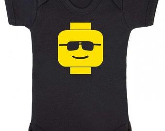 Cool Dude Brick Head Baby Vest