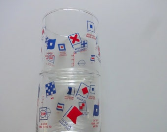 Vintage Pair of Esso Highball Glass 1980s