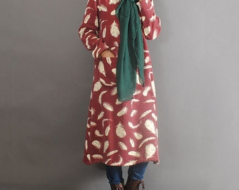 Cotton Loose gown Women loose fitting maxi dress cotton maternity dress