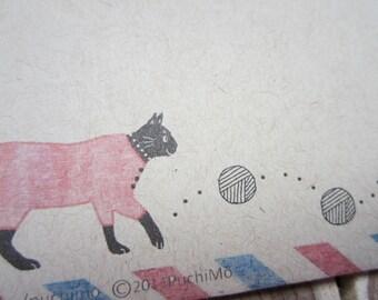 10 Air Mail / pajama cat