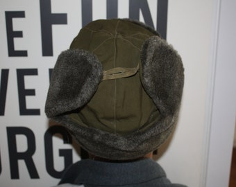 Wool Ear Flap Hat CLEARANCE Sale // Size Small Winter Hat // Ushanka Military Hat from Czech