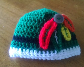 Crocheted Blackhawks Baby Hat