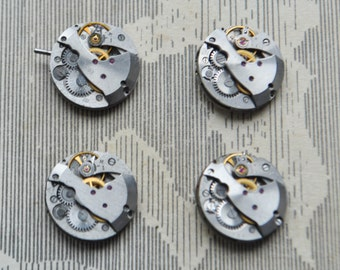 0.7 inch Set of 4 vintage watch movements.