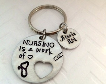 Nurse Thank you gifts - Nurse Personalized Gifts - Graduation gifts for Nurses - RN gifts - LPN Gift ideas Nurse gifts - The Charmed Wife -
