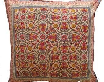 "Large Cotton Cushion Cover - Arabesque 24"" x 24"""