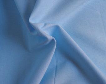 Voile de coton - bleu ciel - 50 cm