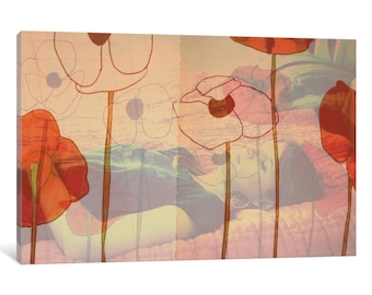 iCanvas Poppies Will Make Them Sleep Gallery Wrapped Canvas Art Print by Morgan Kendall