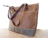 Zippered Tote Bag | Waxed Canvas | Zip Tote