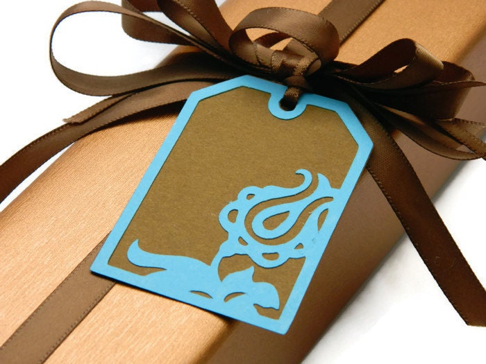 Wedding Favor Hang Tags : Wedding Favor Tags Floral Hang Tags Floral Flower by DesignsByCnC