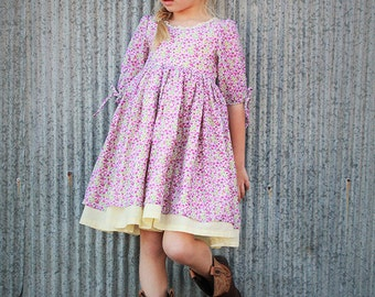 NEW: Maisie Top Dress PDF Pattern & Tutorial, All sizes 2-10 years included