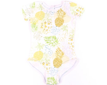 Designer Baby Clothes , Unique Baby Gift , Organic Baby Bodysuit , Pineapple  Bodysuit , Trendy Baby Clothes , Organic Cotton Baby Clothes