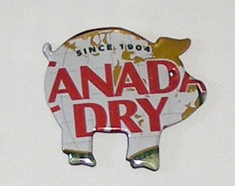 Pig Magnet - Canada Dry Ginger Ale Can