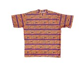 Crisp 80s Neon Orange Body Equipment Thick Cotton Surf T-Shirt - OS / XL