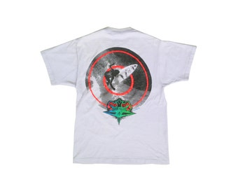 Rad 1991 Neon Ocean Pacific Surf Target T-Shirt - S / M