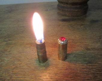 "Lipstick Lighter. Works great. Rhinestone and ""Ruby"" Red Glass Embellished Lipstick Lighter. Purse lighter. Weston Lighter  Tobacciana"