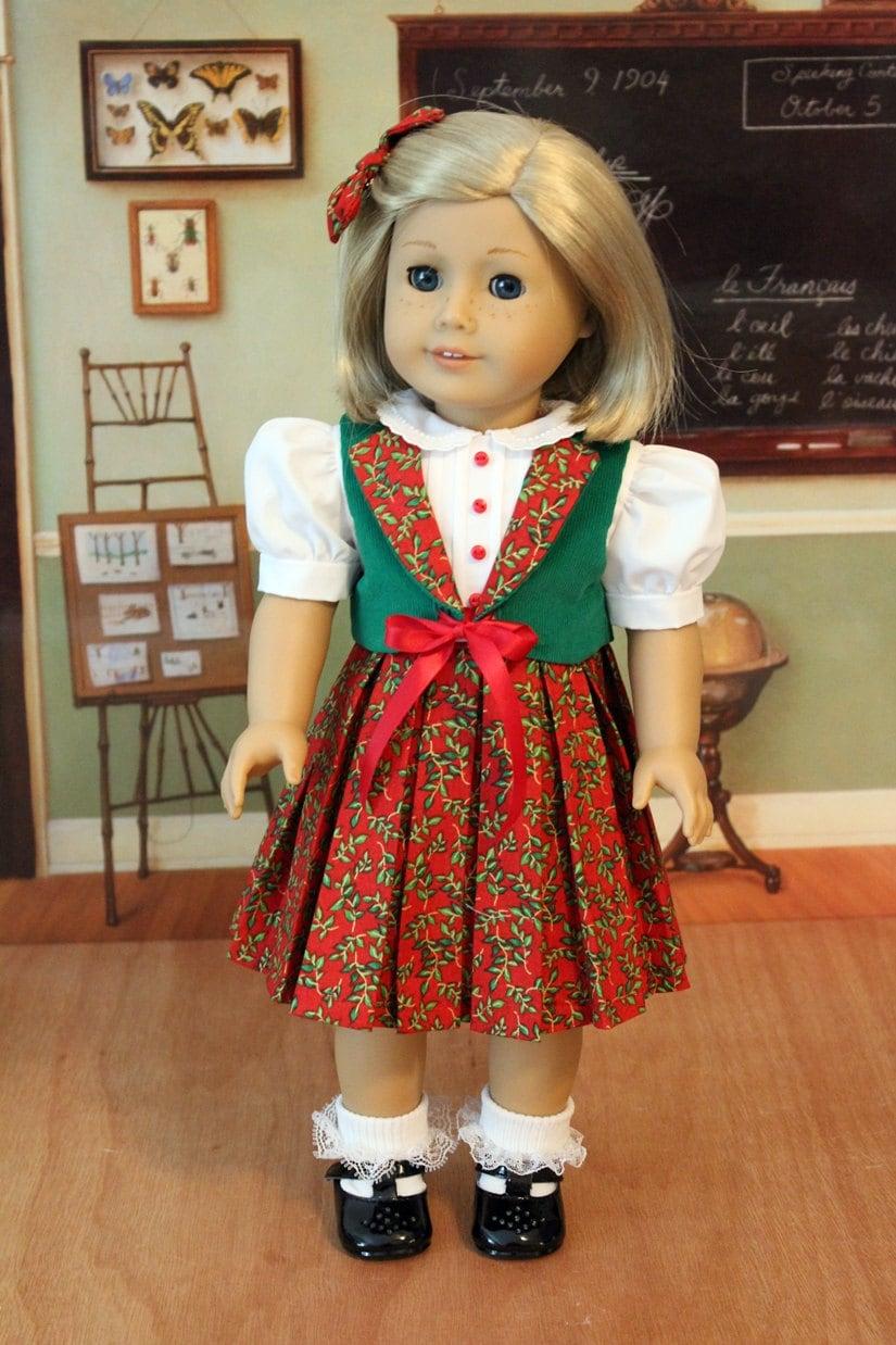 Christmas Dress for Dolls Like Kit Molly or Maryellen Molly Hooper Christmas Dress