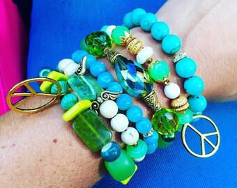 Peace - bracelet set of 3