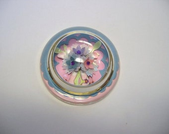 Paperweight, glass paperweight, floral paperweight