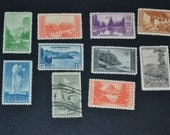 1934 MNH National park Issues #740-749