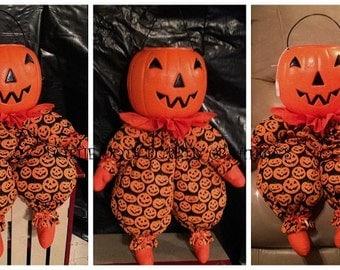 Pumpkin Doll Trick or Treat Sitting/Hanging decor