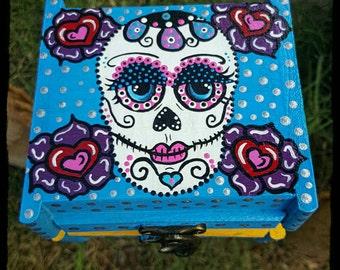 Sugar Skull box jewelry box keep sake box