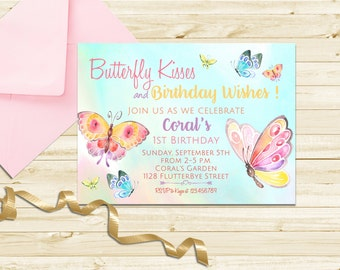Butterfly Invitation, Butterfly Birthday Invitation, Butterfly Party, First Birthday Invitation, Printable Party Invite